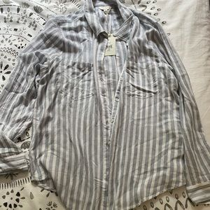 Lucky brand striped blouse NWT